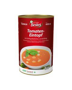 Tomateneintopf mit Hühnfleischklößchen, servierfertig, okZ