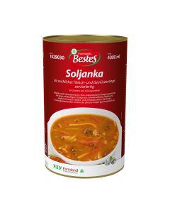 Soljanka, pikante Suppen-Spezialität, servierfertig