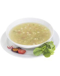 Klare Muschelnudel-Suppe mit Gemüse, instant, okZ