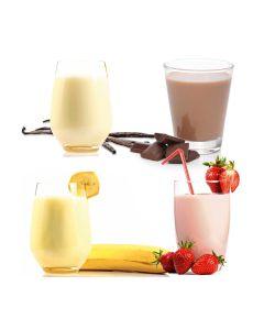 Milchmix, sortiert 4 x 1 kg Dena-Frühstückstrunk, je 2 x 1 kg Banane, Erdbeere und Vanille, instant, okZ