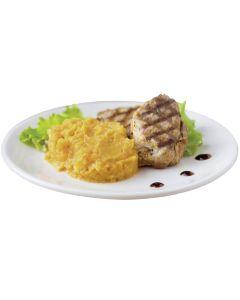 Kartoffelpüree mit Süßkartoffeln und entrahmter Milch, okZ
