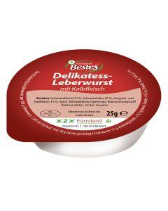 Delikatess-Leberwurst mit Kalbfleisch, -A