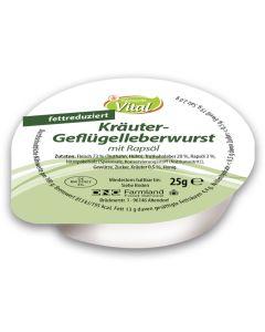 Kräuter-Geflügelleberwurst, fettreduziert, -A