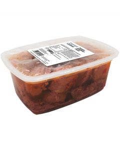 Truthahn-Schlemmerfleisch - grob zerkleinertes Truthahnfleisch in Rinderaspik, -A
