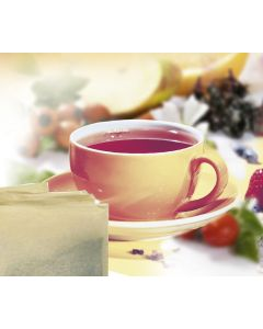 Früchtetee Johannisbeer-Kirsch-Geschmack, aromatisier in Ketten, okZ, -A