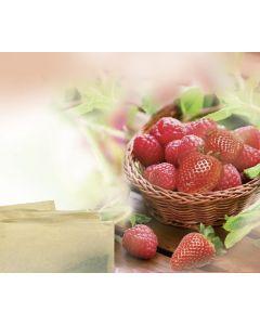 Früchtetee Erdbeer-Himbeer-Geschmack, aromatisiert in Ketten, okZ, -A