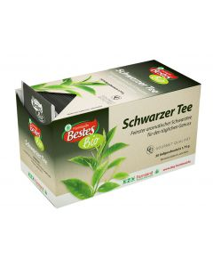 Bio-Schwarzer Tee, kuvertiert, okZ, -A