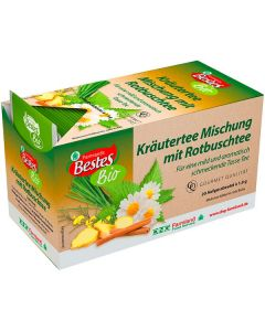 Bio-Kräutertee-Mischung mit Rotbusch, kuvertiert, okZ, -A
