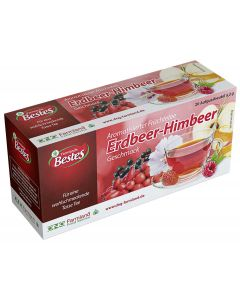 Früchtetee Erdbeer-Himbeer aromatisiert , okZ, -A