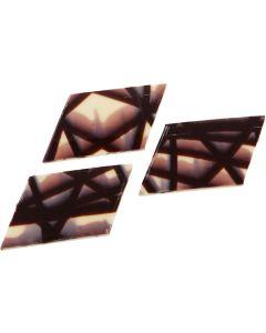 Schoko-Dekor Raute, marmoriert aus weißer Schokolade und Zartbitter-Schokolade (Kakao: mind. 55 %) ca. 360 Stück, okZ