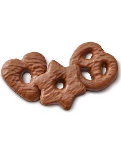 Lebkuchen Herzen/Brezeln/Sterne mit Vollmilchschokolade, lose