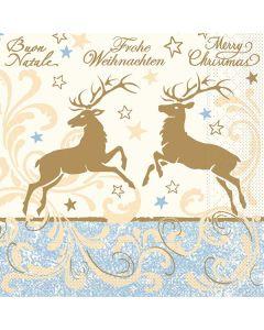 """Weihnachtsservietten """"Liroy"""" 33 x 33 cm 1/4 Falz"""