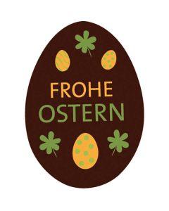 Schokoaufleger Osterei mit Zartbitterschokolade 35 x 25 mm