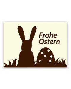 """Schokoaufleger """"Frohe Ostern"""" mit weißer Schokolade  35 x 25 mm"""