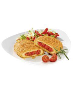 Veganes Schnitzel mit Paprika-Tomaten Füllung, okZ