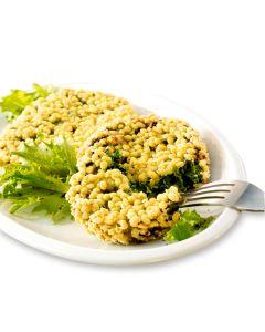 Spinat-Dinkel-Knusperplätzchen, vegetarisch, okZ