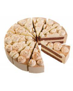 Cappuccino-Sahne-Torte, 4 x 12 Port.