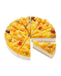 Fruchtmix-Obst-Sahne-Torte, 4 x 12 Port.